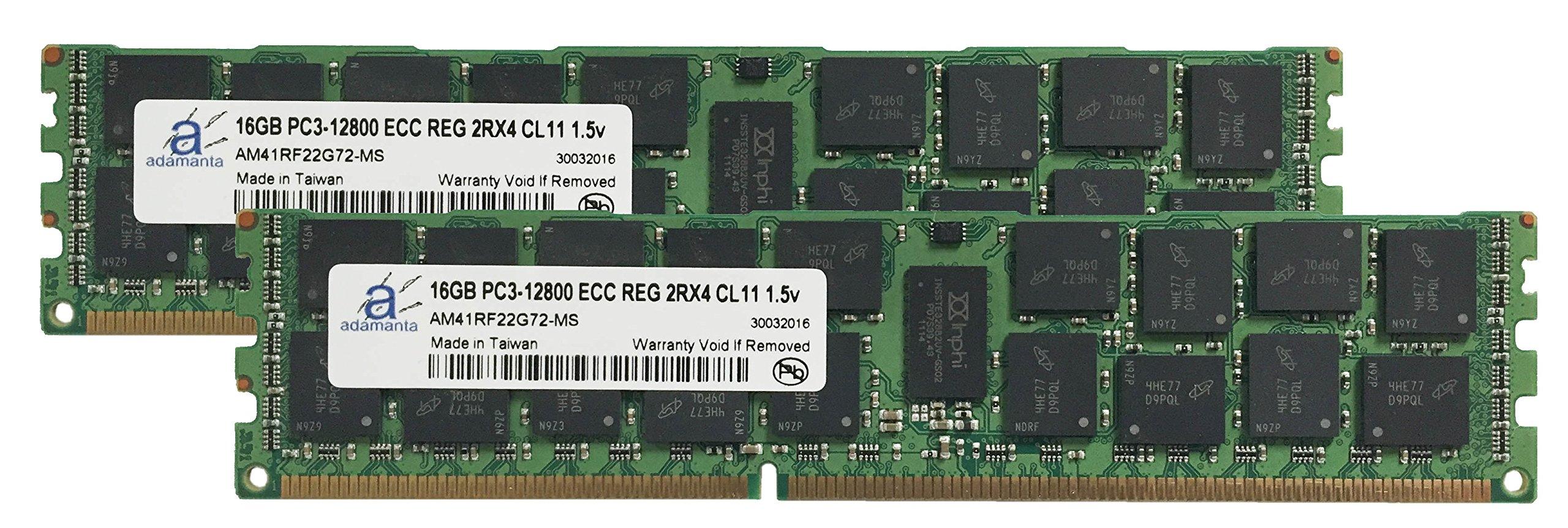 Adamanta 32GB (2x16GB) Server Memory Upgrade for Dell PowerEdge T320 DDR3 1600Mhz PC3-12800 ECC Registered 2Rx4 CL11 1.5v