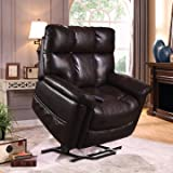 THERAPEDIC Lift Chair Recliner with Carbon Fiber Heat & Sonic Massage. EXTRA LARGE Lift Chair with Dual Motors & 500lb Weight Capacity. Shipping Includes WHITE GLOVE DELIVERY (Virtuoso Java)