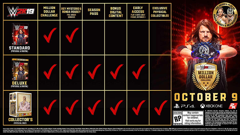 Amazon com: WWE 2K19 - Xbox One: Take 2 Interactive: Video Games