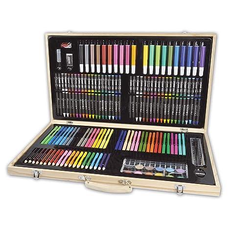 Maletín de pinturas para niños y adultos; incluye lápices de ...