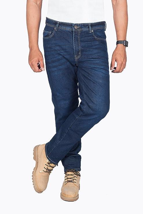 Huxlay Bros HBs Motorbike Kevlar Jeans 40W X 30L Blue