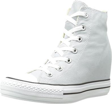 Retirarse Sur pase a ver  Amazon.com: Converse mujer Chuck Taylor All Star Platform Plus Zapatillas,  Gris: Shoes
