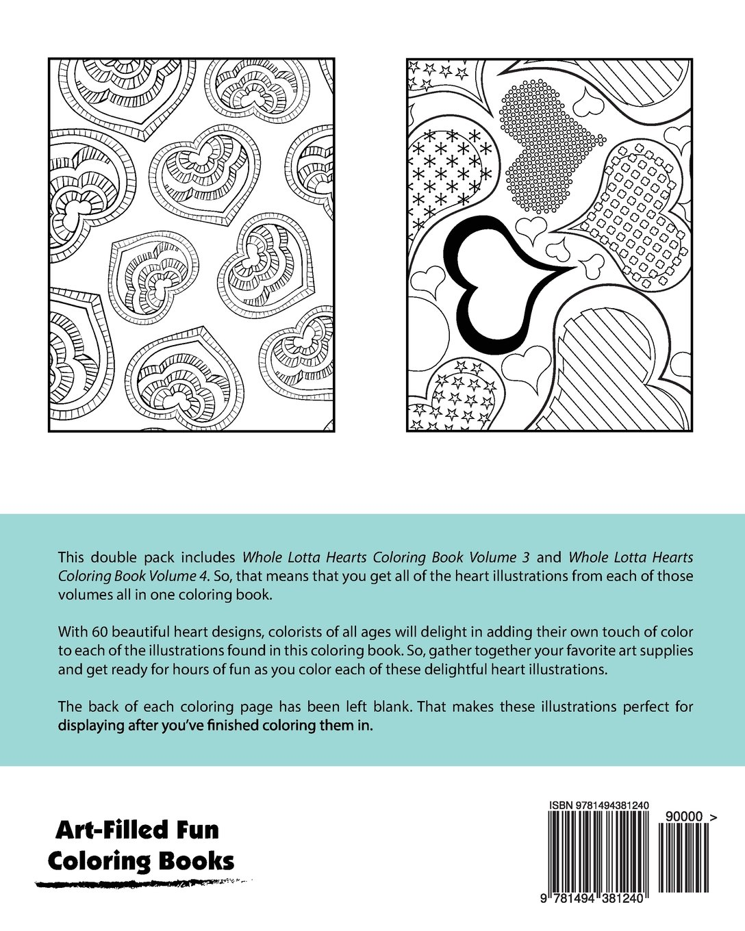 Whole Lotta Hearts Coloring Book Double Pack (Volumes 3 & 4) (Art ...