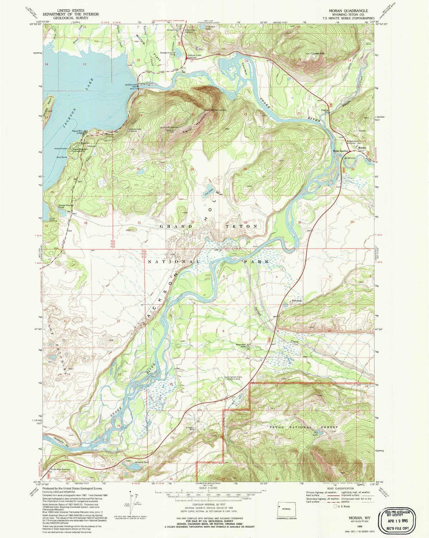 Amazon Com Yellowmaps Moran Wy Topo Map 1 24000 Scale 7 5 X 7 5