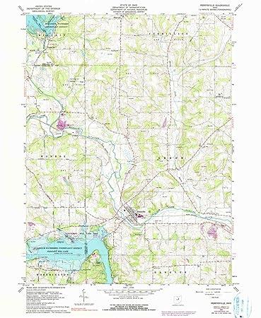 Perrysville Ohio Map.Amazon Com Yellowmaps Perrysville Oh Topo Map 1 24000 Scale 7 5