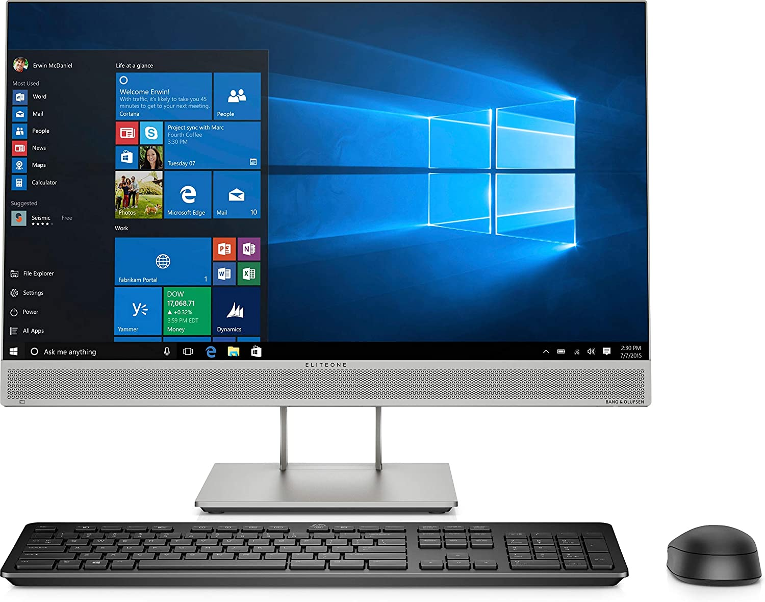 "HP EliteOne 800 G5 All-in-One Computer - Core i7 i7-9700 - 8 GB RAM - 256 GB SSD - 23.8"" 1920 X 1080 Touchscreen Display - Desktop - Windows 10 Pro 64-bit - Intel UHD Graphics 630 - DVD-Writer -"