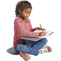 ECR4Kids - ELR-15810-GY The Surf Portable Lap Desk, Flexible Seating for Homeschool and Classrooms, One-Piece Writing…