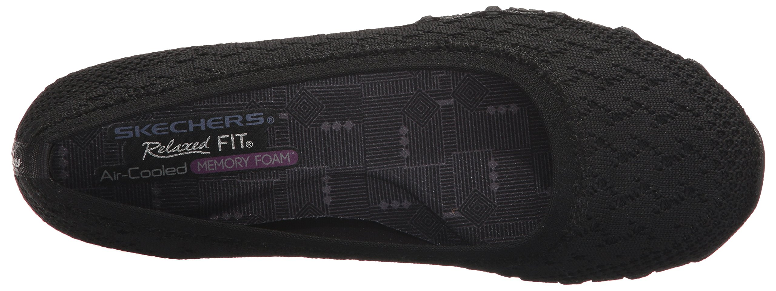 Skechers Women's Bikers-Witty Knit Ballet Flat, black, 10 Extra Wide US by Skechers (Image #8)
