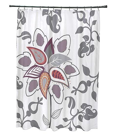 Amazoncom E By Design 71 X 74 Paisley Pop Floral Print Shower
