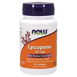 NOW Supplements, Lycopene 20 mg with Natural Extract from Tomatoes, 50 Softgels
