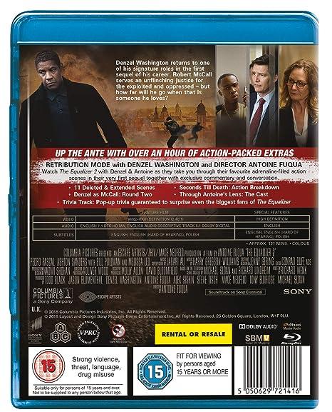 The Equalizer 2 [Blu-ray] [2018]: Amazon co uk: Denzel Washington