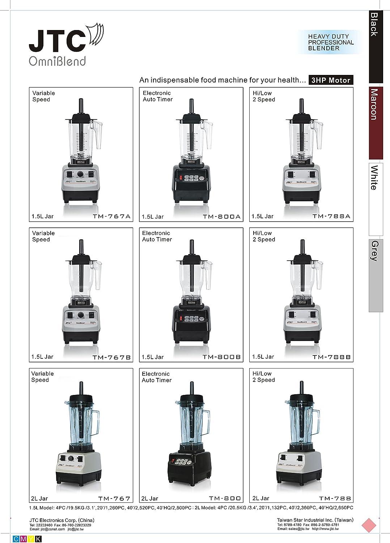 JTC OmniBlend V TM-800A Licuadora profesional: Amazon.es: Hogar