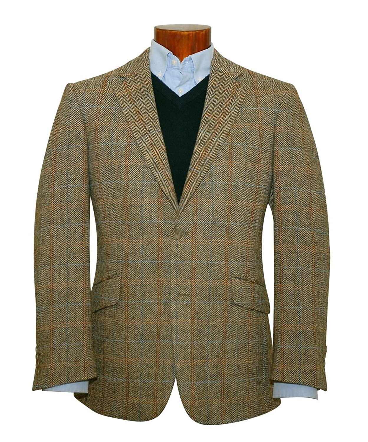 1900s Edwardian Men's Suits and Coats Harris Tweed Hamish Wool Jacket $380.00 AT vintagedancer.com