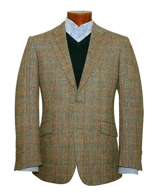 Chaqueta americana ligera de lana para hombre, de Harris Tweed beige beige 36 corta: Amazon.es: Amazon.es