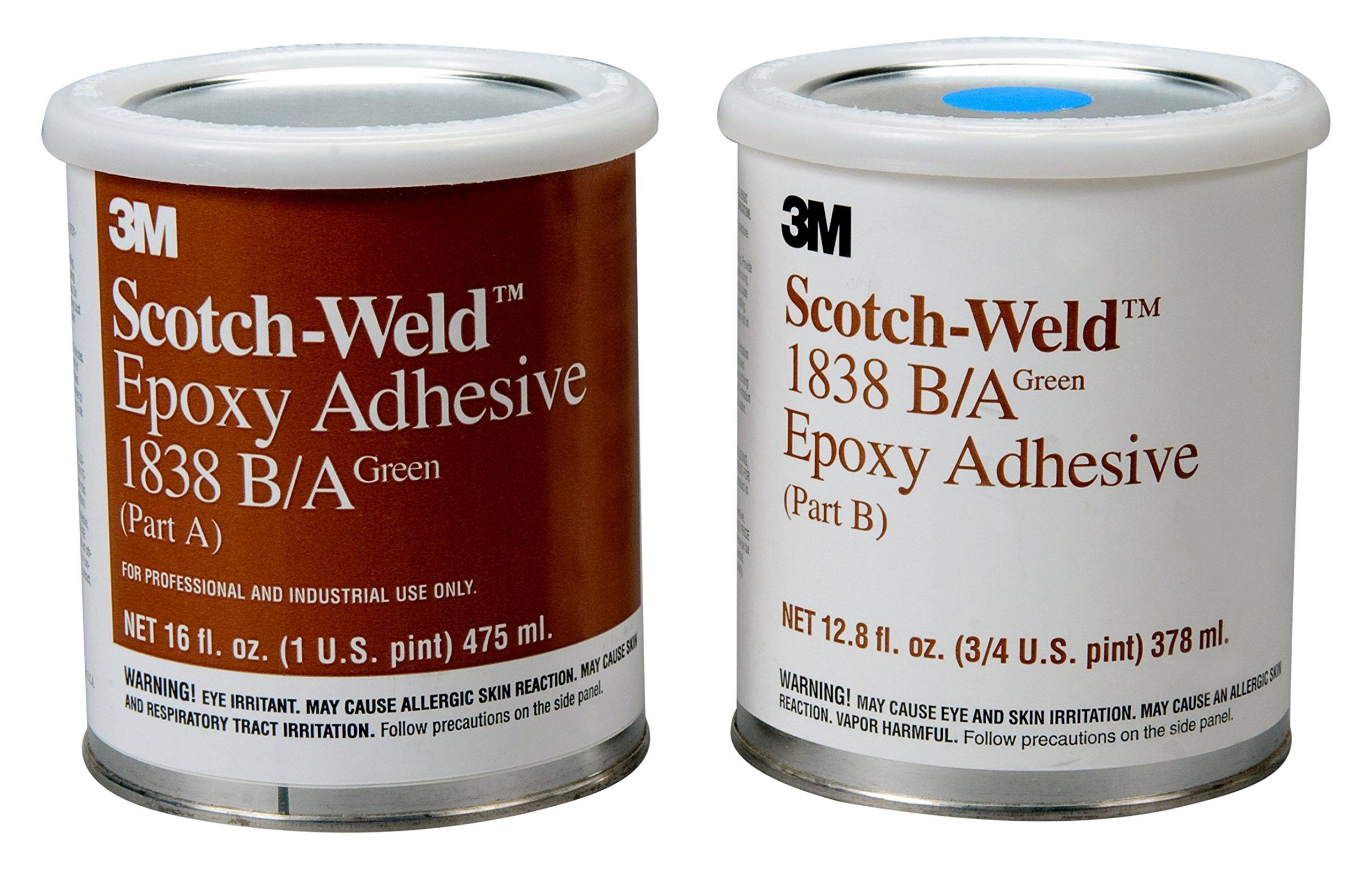 3M Scotch-Weld 20152 Epoxy Adhesive 1838 Part B/A, Green, 1 quart Kit