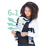 LILLEbaby SIX-Position, 360° Ergonomic Baby & Child Carrier by LILLEbaby – The COMPLETE All Seasons (Black/Camel)