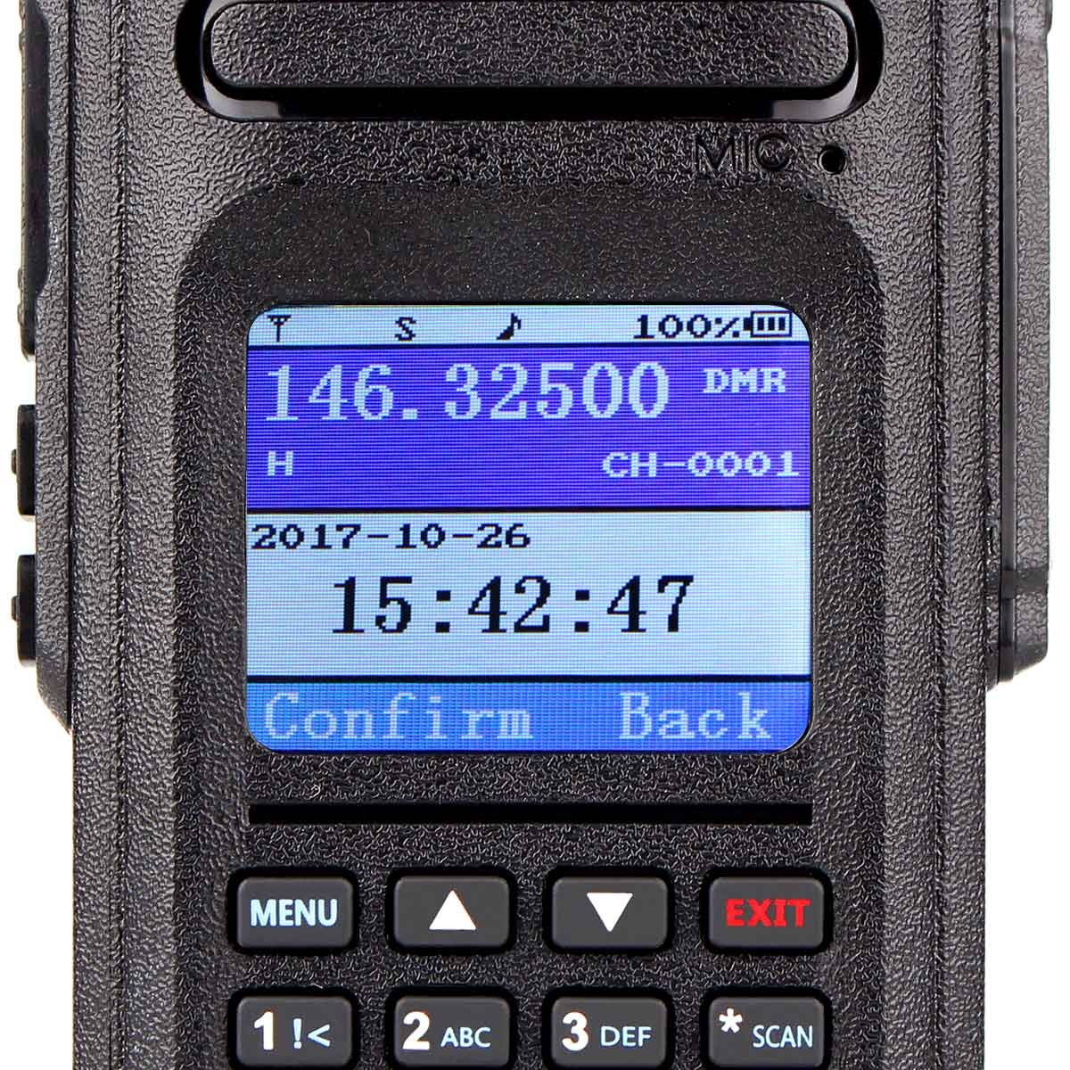 Ailunce HD1 DMR Digital Ham Radio Dual Band Dual Time Slot 10W 3000Channels 100000 Contacts 3200mAhz Waterproof long Range Two Way Radio with FM Function and Programming Cable(Black,1pack) by Ailunce (Image #4)