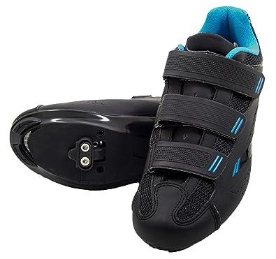 1da57f81fcb tommaso Pista Women s Spin Class Ready Cycling Shoe Bundle - Black Blue -  SPD -