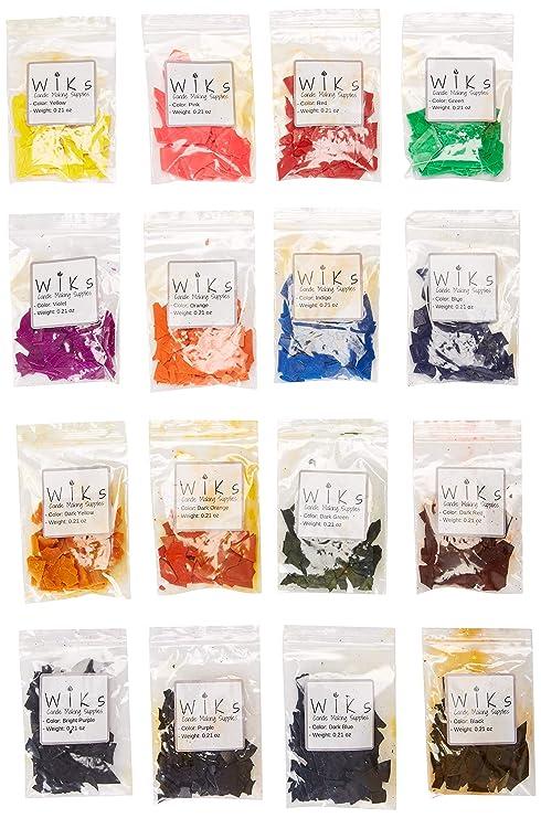 Copos de tinte de cera para hacer velas, 16 colores ...