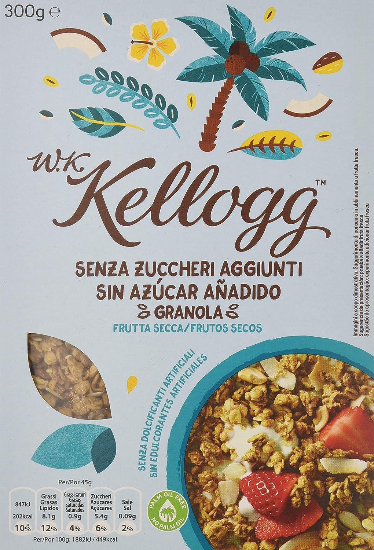Kelloggs Cereales sin Azúcar Añadido Frutos Secos - 5 Paquetes de 300 gr - Total: 1500 gr: Amazon.es: Alimentación y bebidas