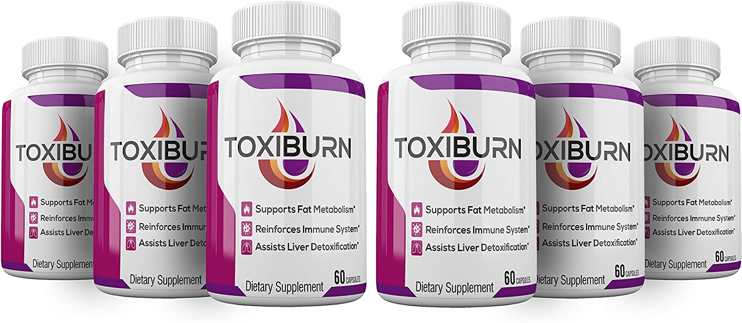 (6 Pack) Toxiburn Weight Loss Pills Liver Cleanse Diet Capsules Supplements Reviews Toxi Burn Advanced Pills (360 Capsules)