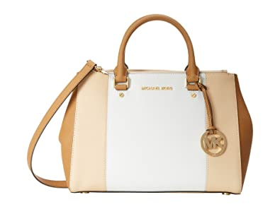 296d91cee471 denmark michael michael kors medium sutton center stripe satchel in nude  white peanut a3220 b2d20