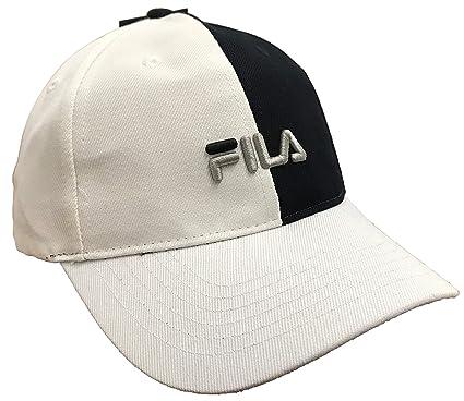Fila Color Block Strapback Hat (Black White c9e7b70be172