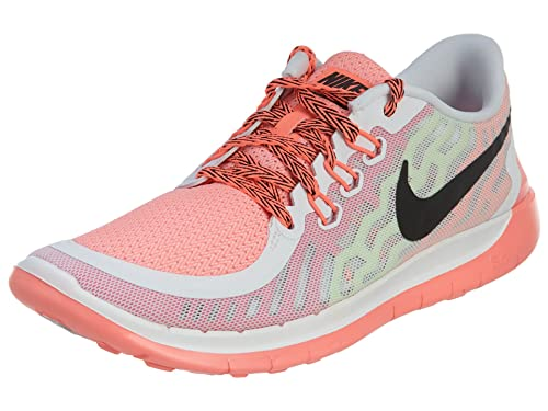 43d702b31b6b Nike Free 5.0 GS Girls Running Shoes White Black Pink Pow Lava Glow 5.5 M  US Big Kid  Buy Online at Low Prices in India - Amazon.in