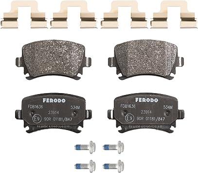 4-teilig - Ferodo FDB1398 PREMIER Bremsbelagsatz 4 St/ück Scheibenbremse -