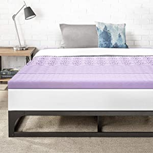 Best Price Mattress King 3 Inch 5-Zone Memory Foam Bed Topper with with Lavender Infused Cooling Mattress Pad,
