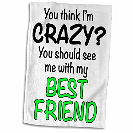 Amazoncom 3drose Evadane Funny Quotes You Think Im Crazy You