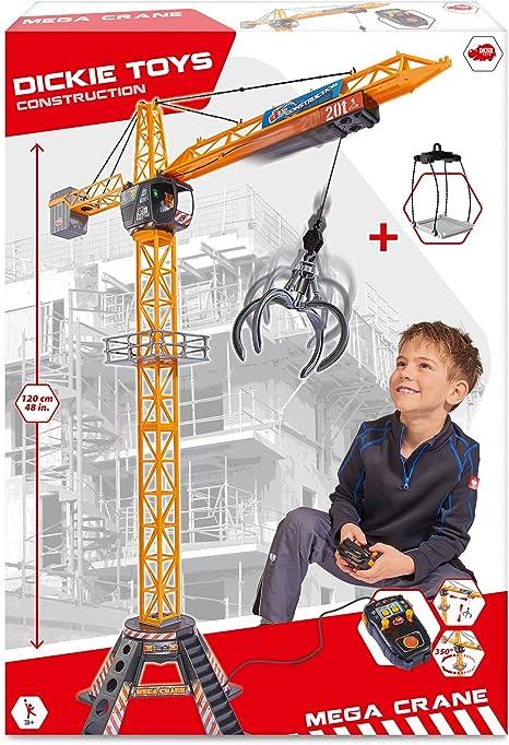 deAO RC Grue /à Tour de Construction 12 Canaux de Radiocommande Mod/èle Die Cast T/él/écommande Rotation sans Limite Lumi/ères et Sons
