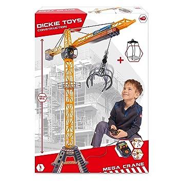 Mega Crane auf links rechts Dickie Spielzeug 203462412 Kabel-Fernsteuerung