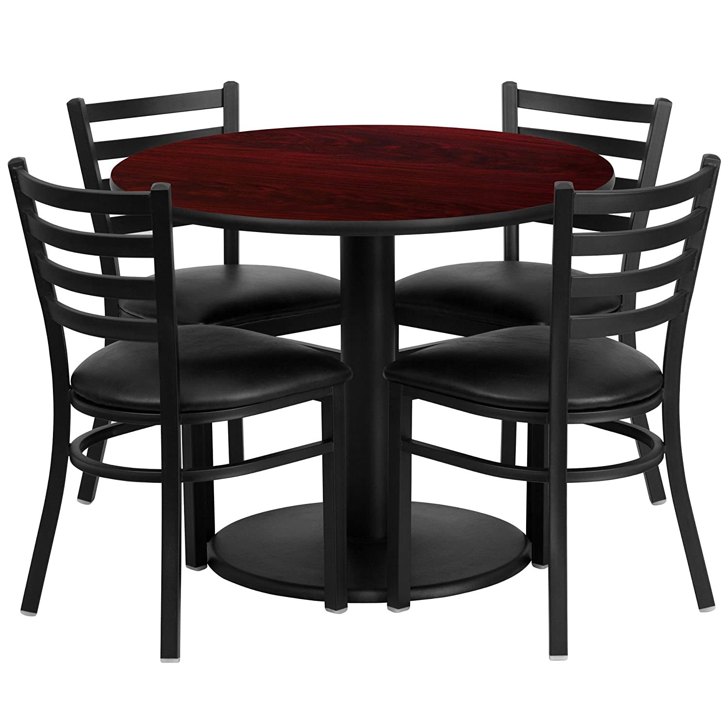 Amazon Flash Furniture 36 Round Black Laminate Table Set