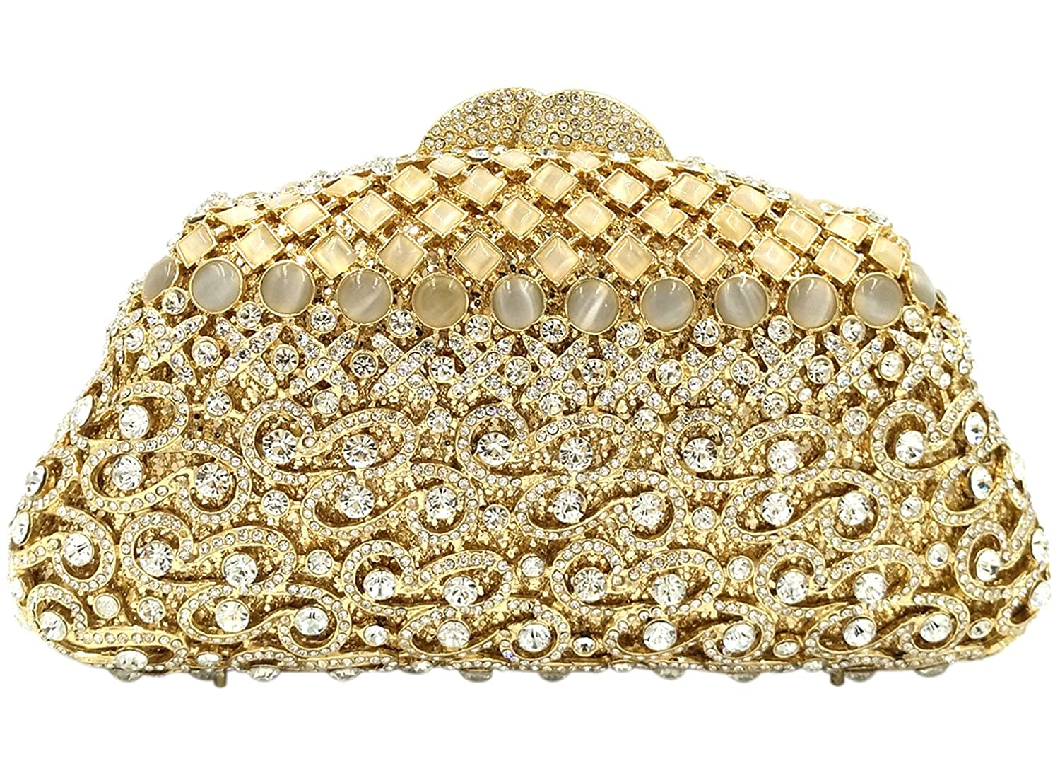 Amazon.com: Dress Handbags Evening Bags For Womens Clutches Purse Chain Rhinestones Wedding Gold: Clothing