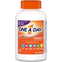 One A Day Women's Multivitamin, Supplement with Vitamin A, Vitamin C, Vitamin D, Vitamin E and Zinc for Immune Health Support, B12, Biotin, Calcium & More, 250 Count
