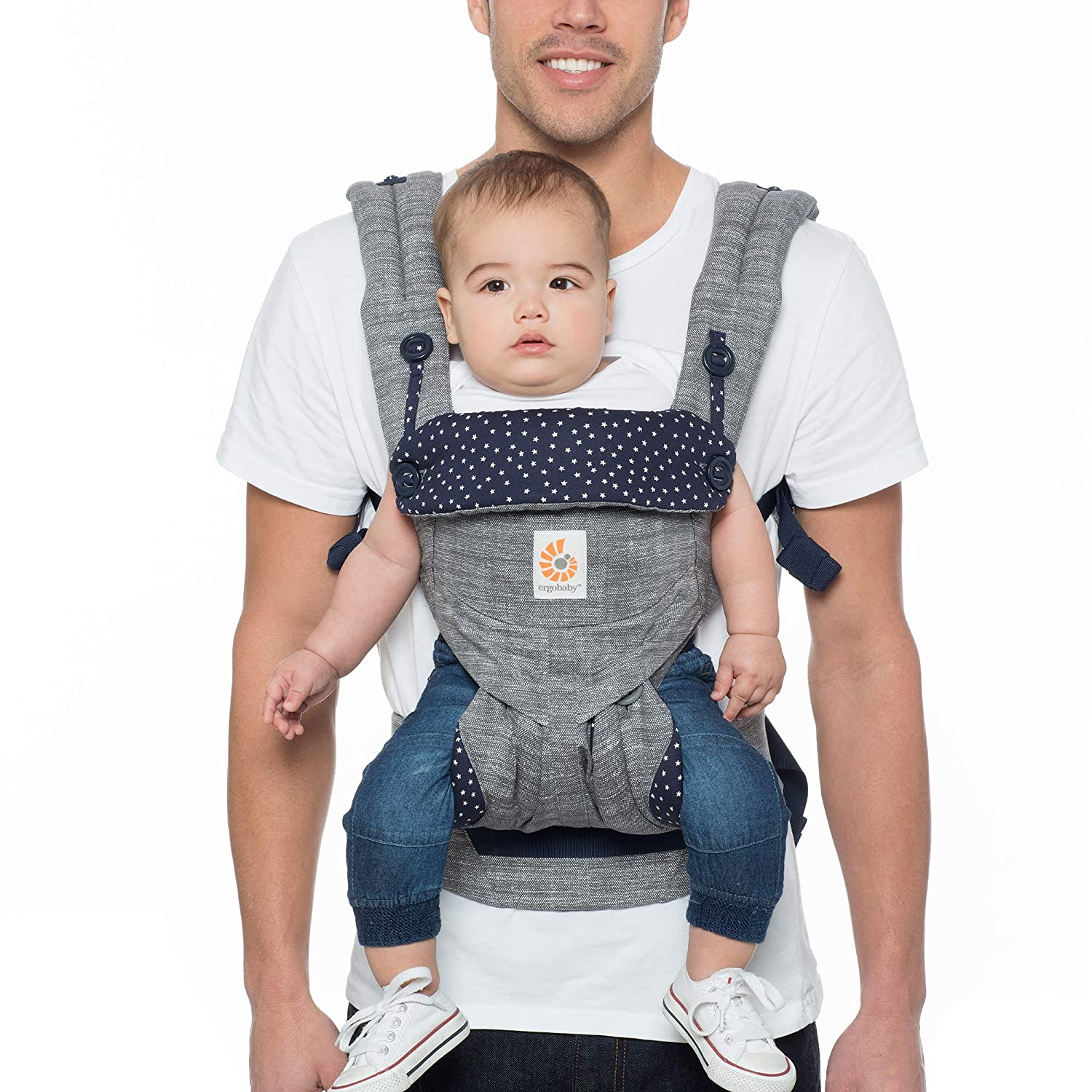 Ergobaby 360 All Carry Positions Award-Winning Cool Mesh Ergonomic Baby Carrier, Carbon Grey BC360PBLKGRY