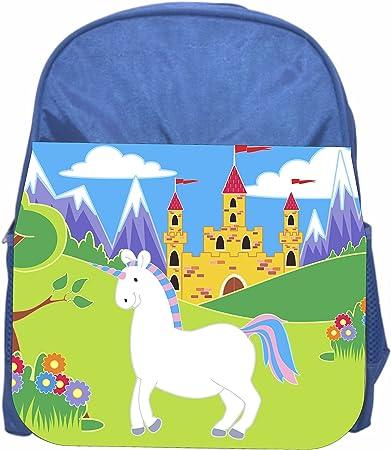 Horse Girls Blue Preschool Toddler Kids Backpack /& Lunch Box Set