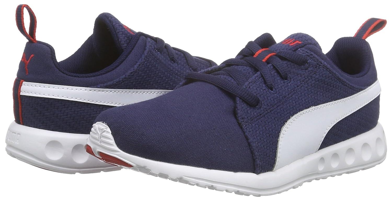 Puma Carson Carson Puma Runner Cv Unisex-Erwachsene Laufschuhe Blau (Peacoat-Weiß-high Risk ROT 06) 0008af