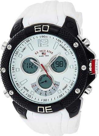 U.S.POLO ASSN. US9495 - Reloj de Pulsera Hombre, Silicona, Color ...