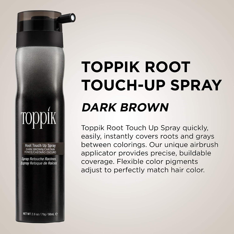 Toppik Spray Retoca Raíces Castaño Oscuro, Cubre de Forma ...