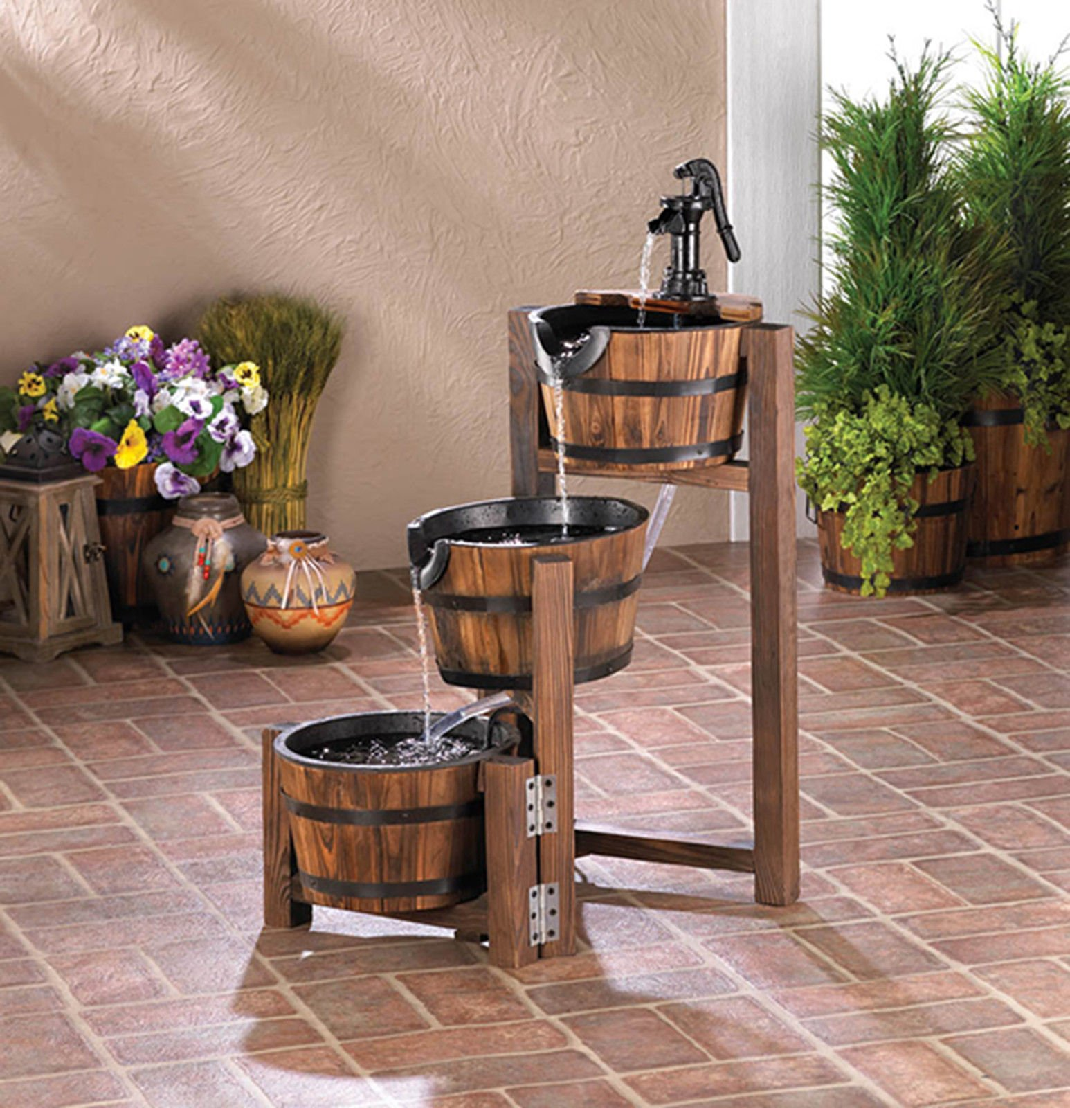 APPLE BARREL CASCADING Three Tiered Outdoor Garden Patio FOUNTAIN SLC 10017256 ;supply_by_berrydtreasuresboutique
