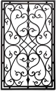 """Wrought Iron 30""""x48"""" Rectangle Wall Decor Grille"""