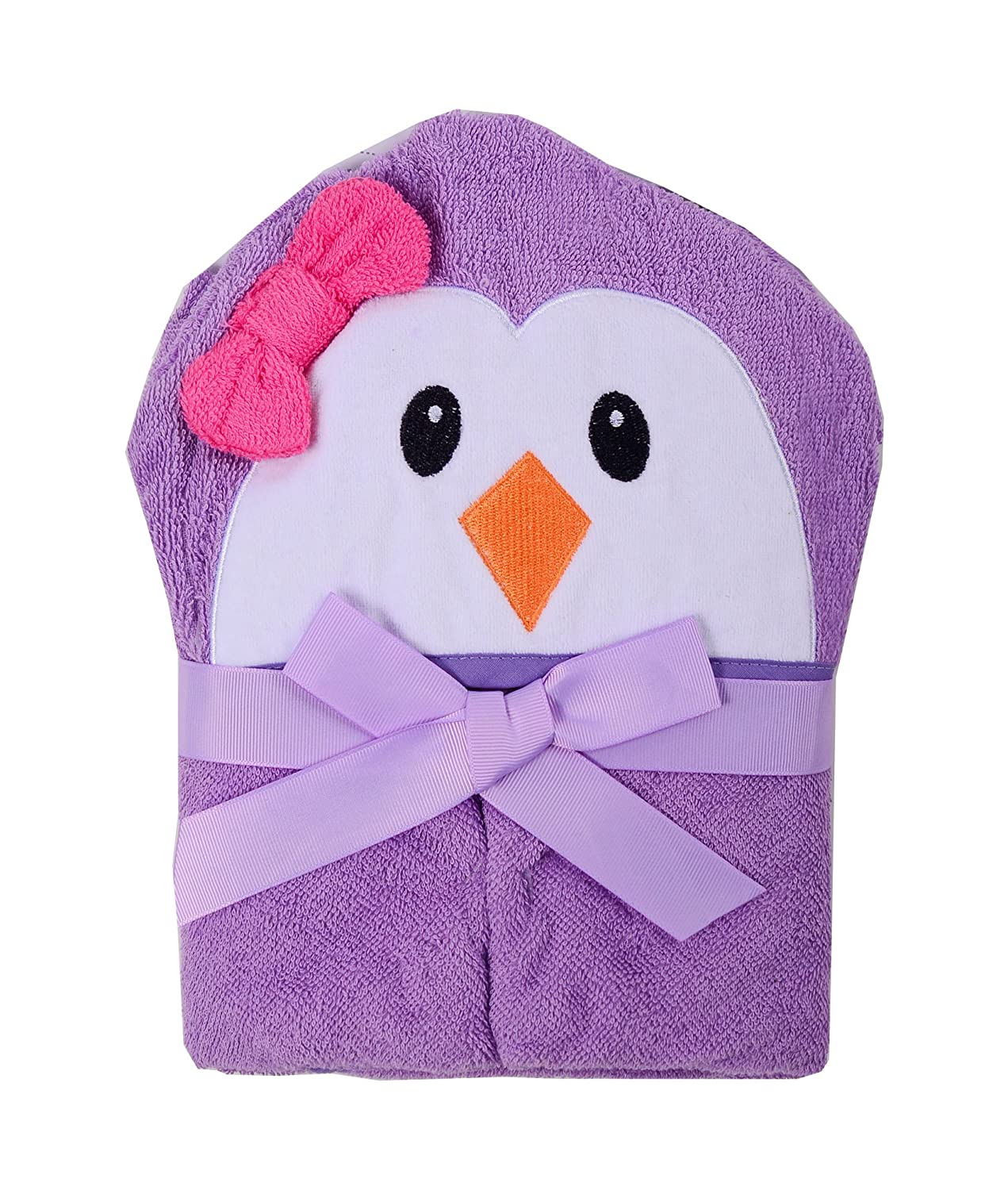 Baby Hooded Towel Bath Towel with Cute 3D Animal Hood
