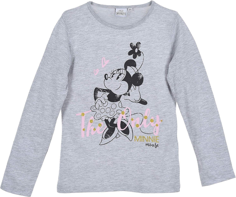 Disney Minnie Mouse HS1494 - Camiseta de Manga Larga Gris 8 Años ...
