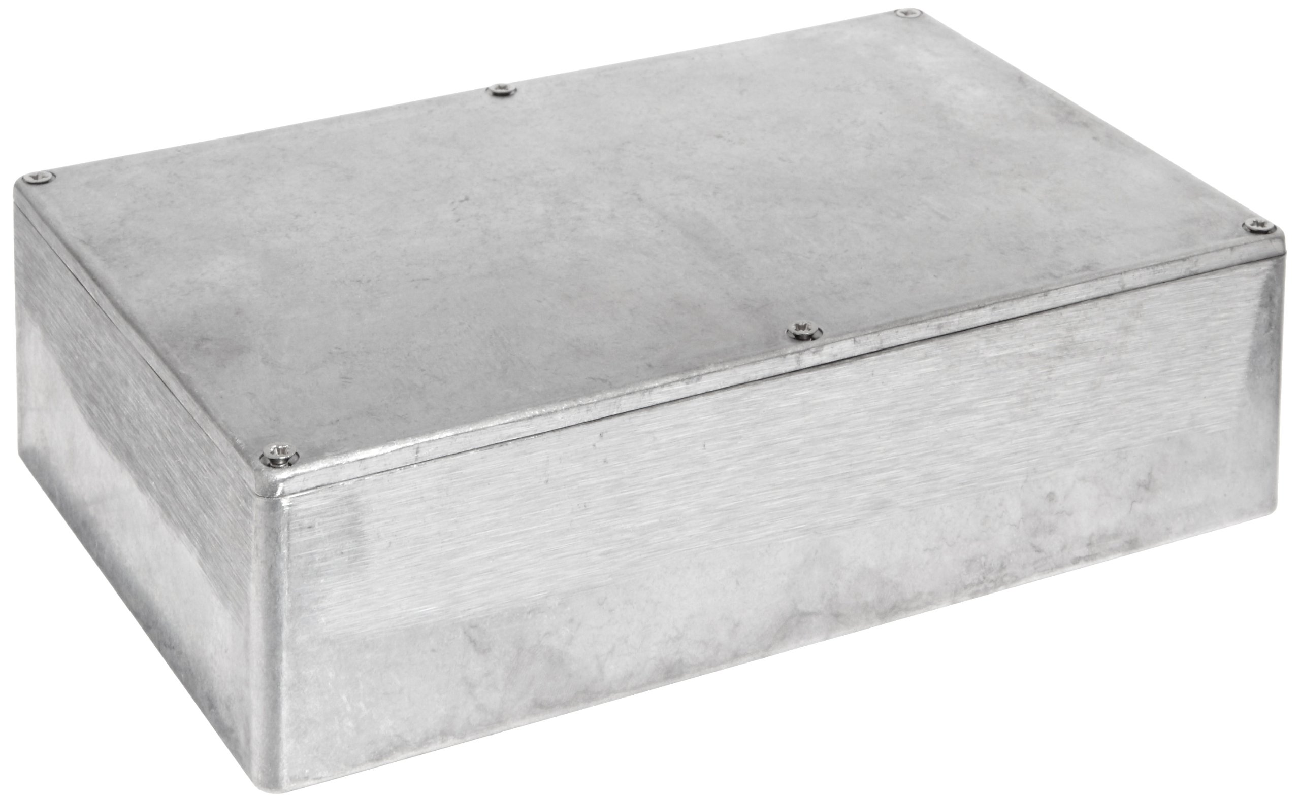 BUD Industries CN-5711 Die Cast Aluminum Enclosure, 8-3/4'' Length x 5-47/64'' Width x 2-1/4'' Height, Natural Finish