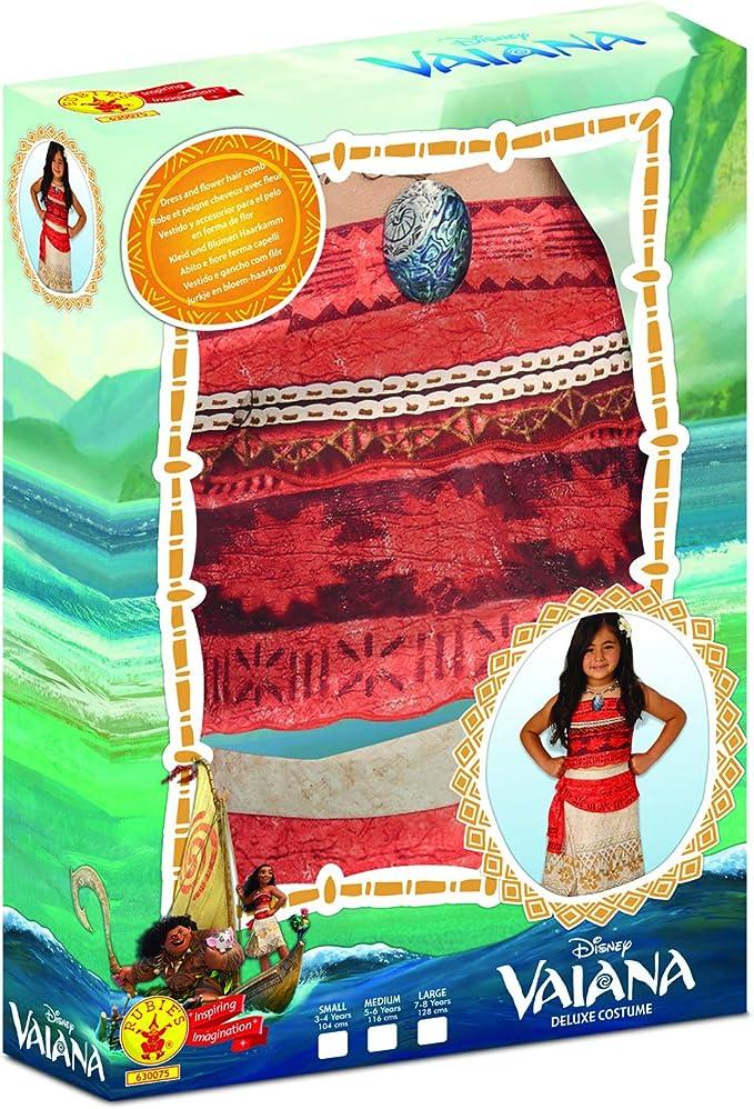 Disfraz lujo Vaiana niña 5-7 años (110/122): Amazon.es: Juguetes y ...