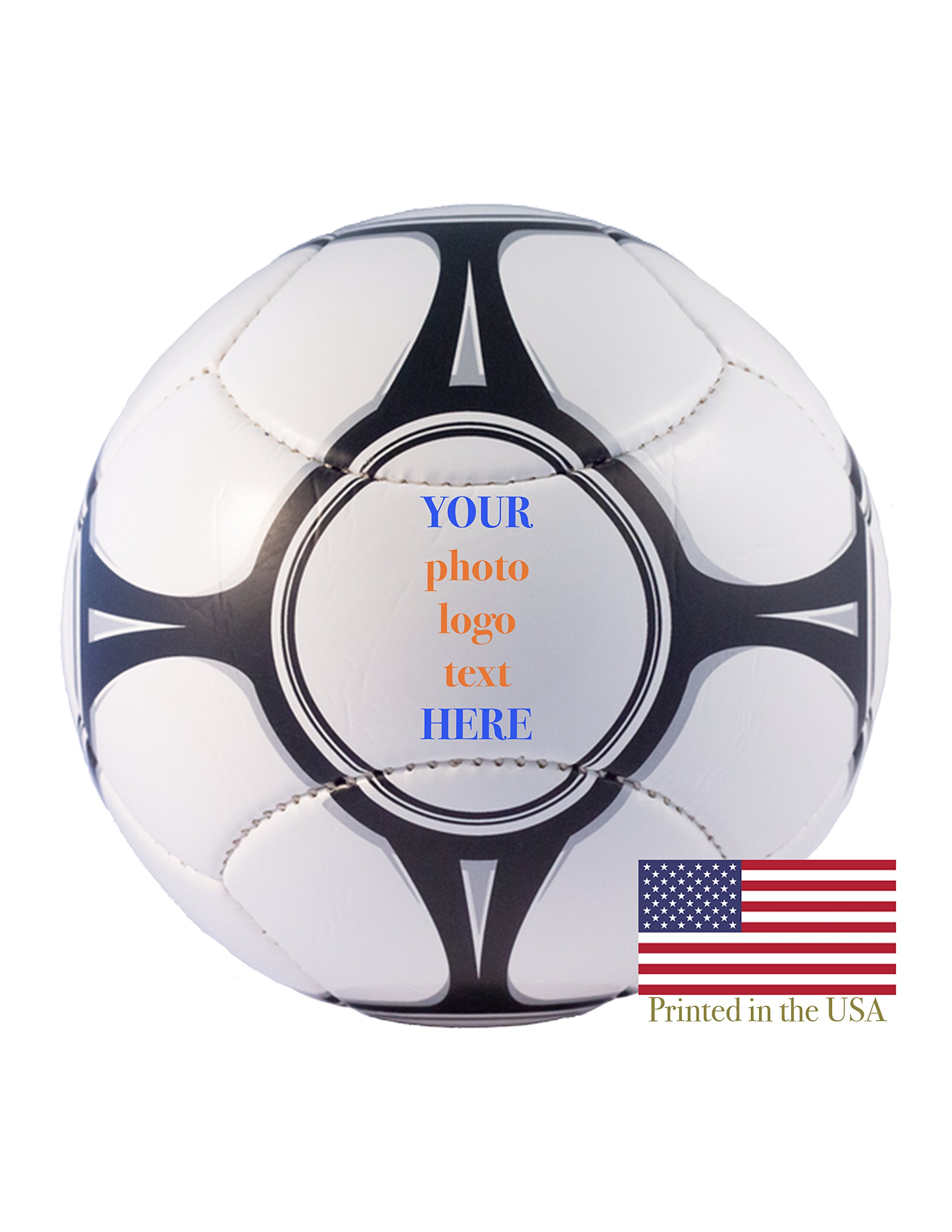 Custom Personalized Euro Soccer Ball Full Size Soccer Ball Ships Next Day, High Resolution Photos, Logos & Text on Soccer Balls Trophies, Personalized Gifts