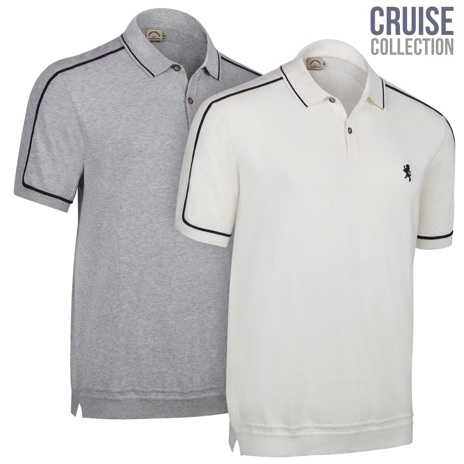 1e893c6c17d SUPERIOR FITTING – Albert Morris traditional polo shirts are sized  professionally for a perfect, comfortable fit. Great for going out, to the  office, ...