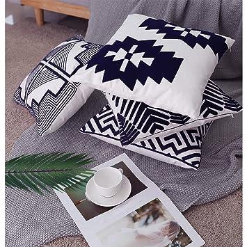 Amazon.com: Lewondr Funda de almohada de bordado, juego de 4 ...